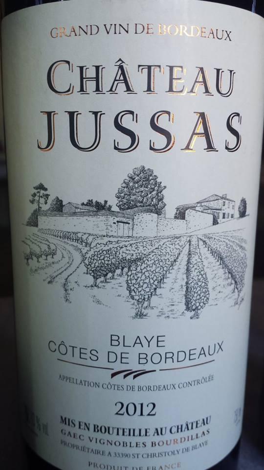 Château Jussas 2012 – Blaye Côtes de Bordeaux