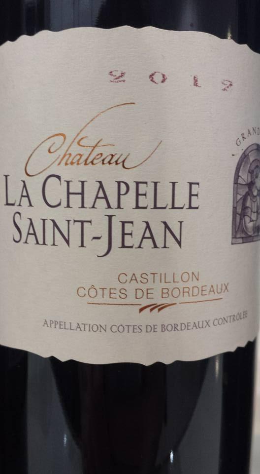 Château La Chapelle Saint Jean 2012 – Castillon côtes de Bordeaux
