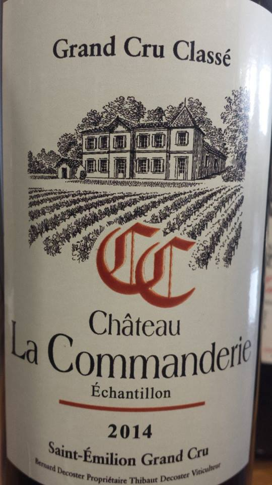 Château La Commanderie 2014 – Saint-Emilion Grand Cru Classé