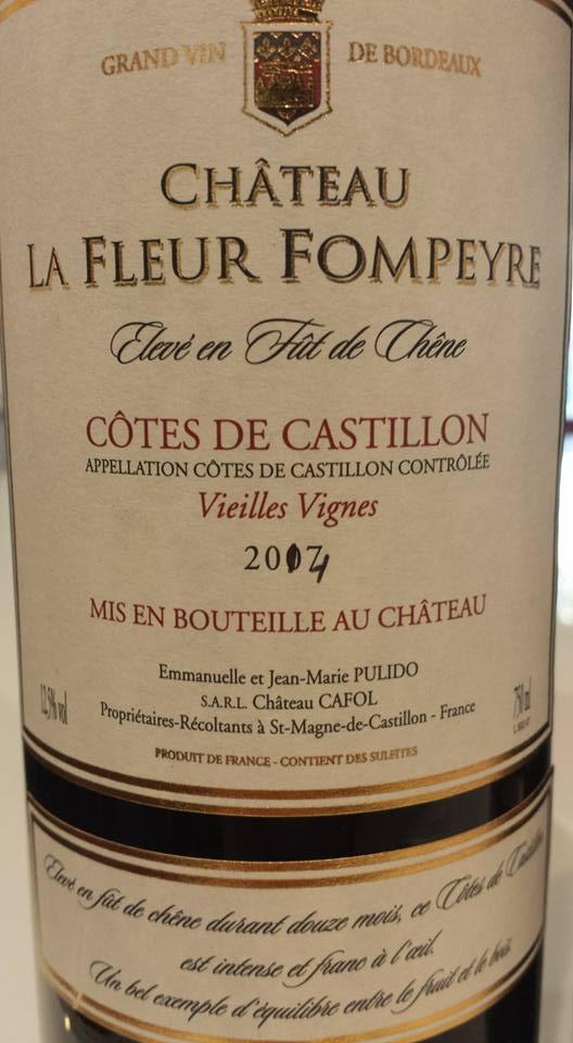 Château La Fleur Fompeyre – Vieilles Vignes 2014 – Castillon Côtes de Bordeaux