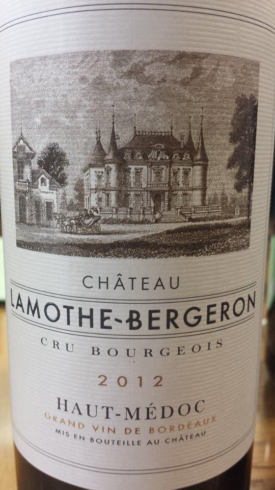 Château Lamothe-Bergeron 2012 – Haut-Médoc – Cru Bourgeois