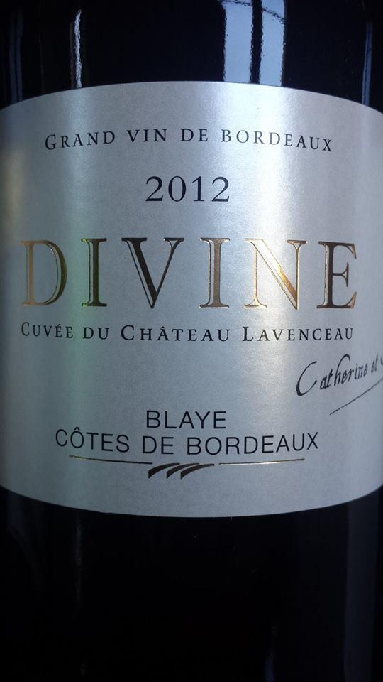 Château Lavenceau – Cuvée Divine 2012 – Blaye Côtes de Bordeaux