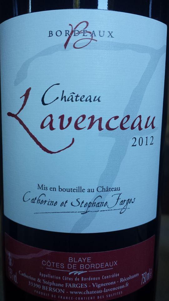 Château Lavenceau 2012 – Blaye Côtes de Bordeaux