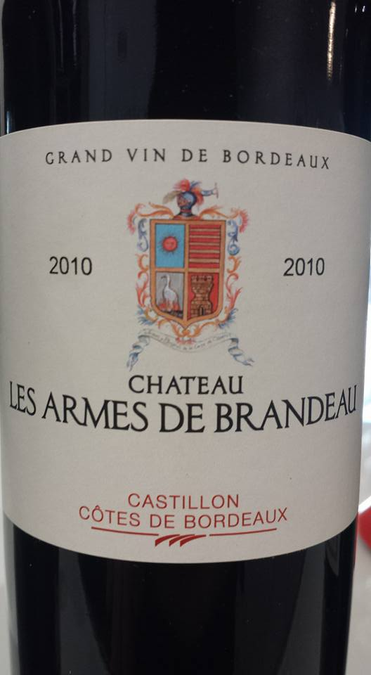 Château Les Armes de Brandeau 2010 – Castillon côtes de Bordeaux