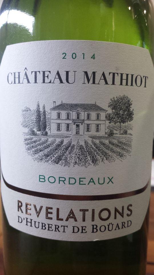 Château Mathiot – Révélations 2014 – Bordeaux