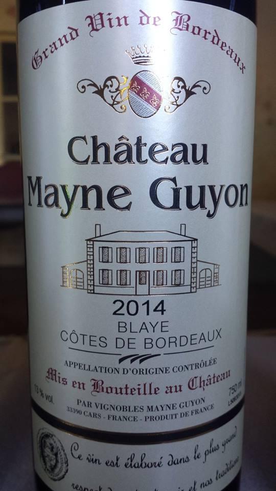 Château Mayne-Guyon 2014 – Blaye Côtes de Bordeaux