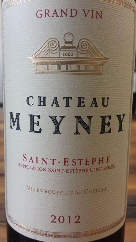 Château Meyney 2012 – Saint-Estèphe