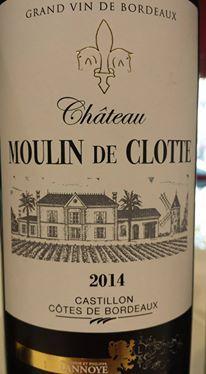 Château Moulin de Clotte 2014 – Castillon côtes de Bordeaux