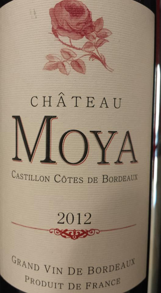 Château Moya 2012 – Castillon côtes de Bordeaux