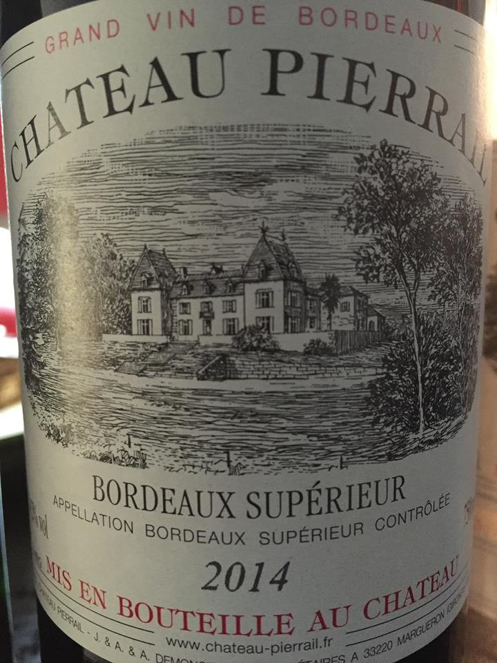 Château Pierrail 2014 – Bordeaux Supérieur