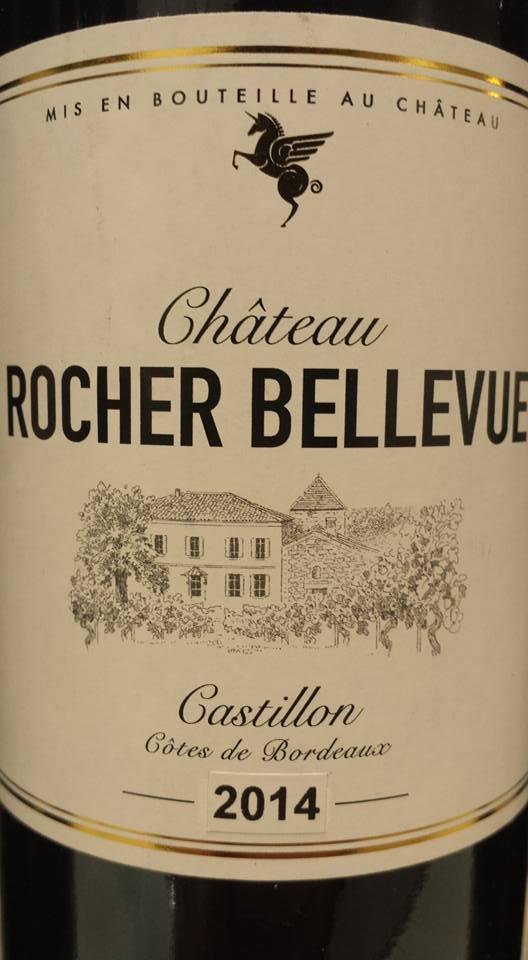 Château Rocher Bellevue 2014 – Castillon côtes de Bordeaux