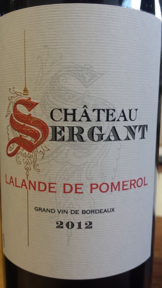 Château Sergant 2012 – Lalande de Pomerol