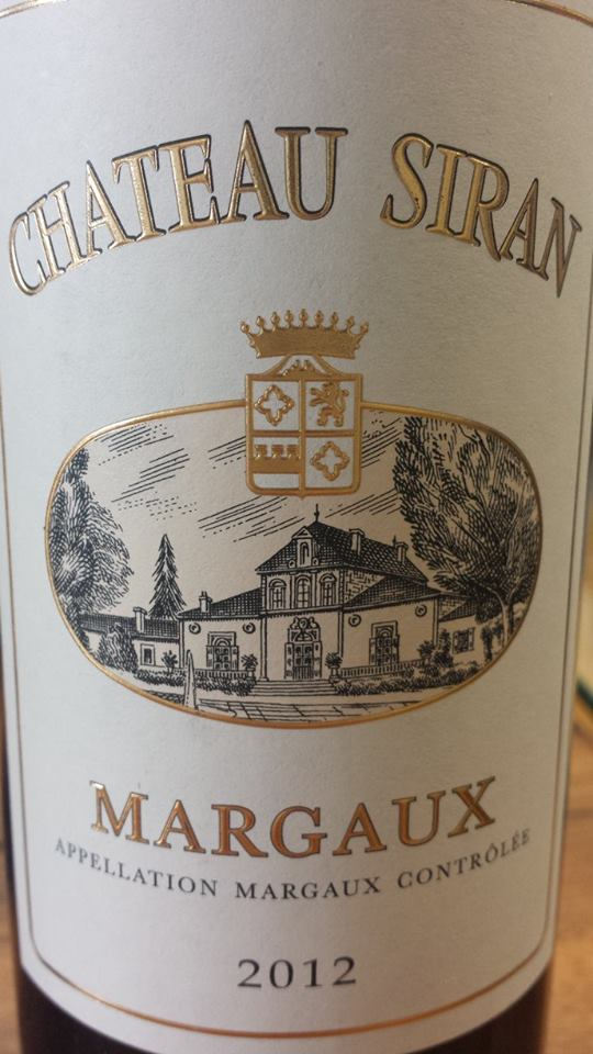 Château Siran 2012 – Margaux