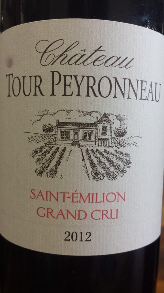 Château Tour Peyronneau 2012 – Saint-Emilion Grand Cru