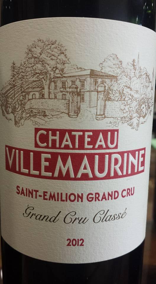 Château Villemaurine 2012 – Saint-Emilion Grand Cru Classé