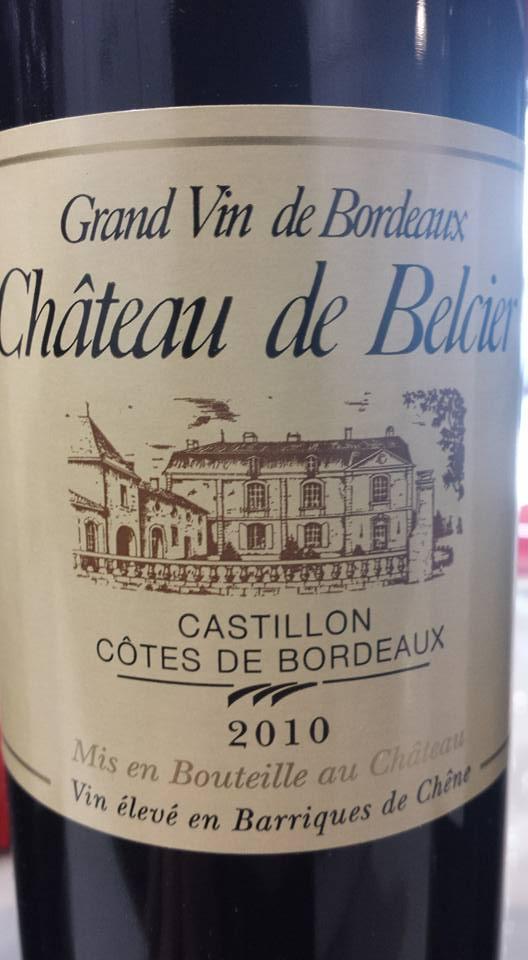 Château de Belcier 2010 – Castillon côtes de Bordeaux