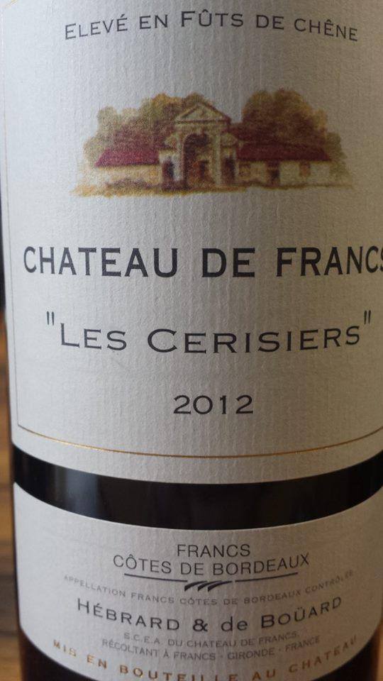 Château de Francs – Les Cerisiers 2012 – Francs Côtes de Bordeaux