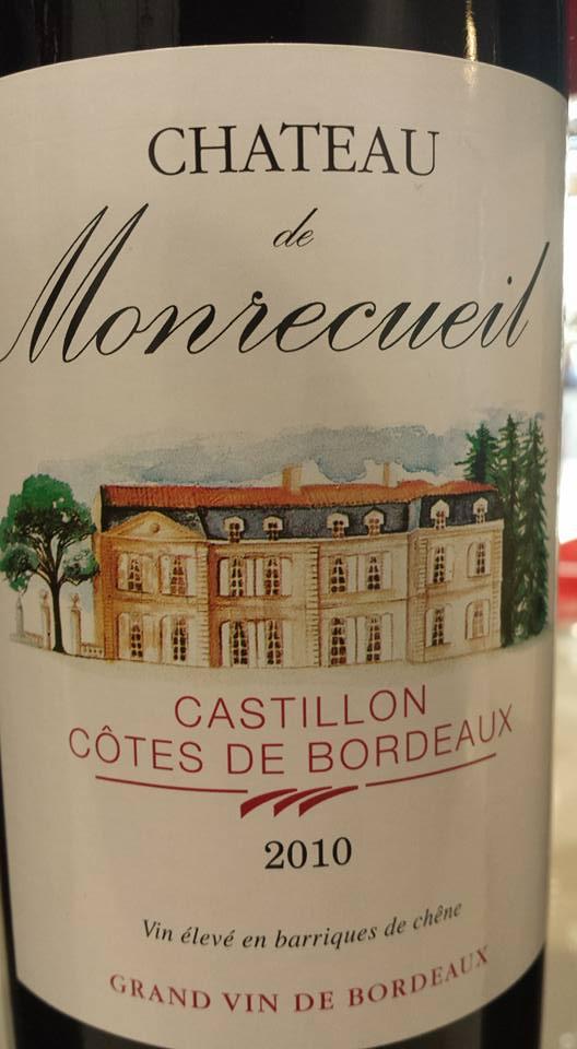 Château de Monrecueil 2011 – Castillon côtes de Bordeaux