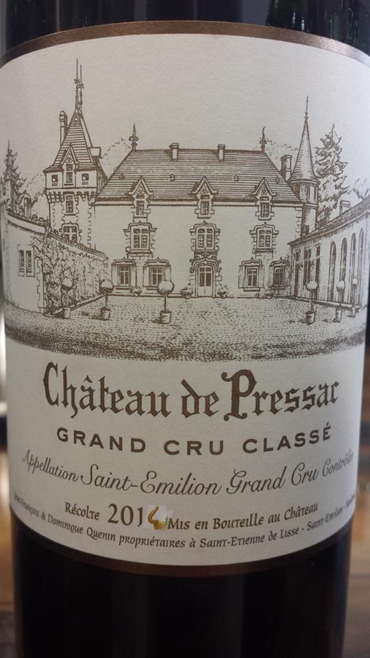 Château de Pressac 2014 – Saint-Emilion Grand Cru Classé
