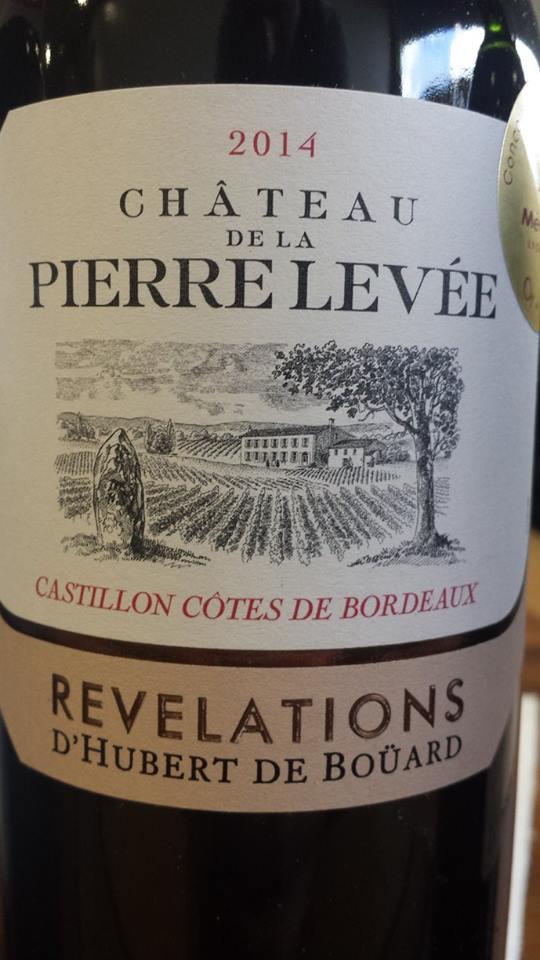 Château de la Pierre Levée – Révélations 2014 – Castillon Côtes de Bordeaux