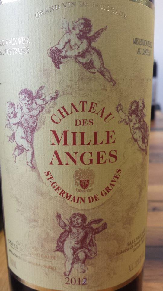 Château des Mille Anges 2012 – Cadillac Côtes de Bordeaux