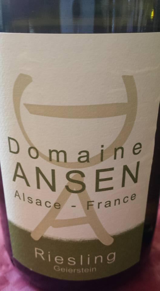 Domaine Ansen – Riesling 2012 – Geierstein – Alsace