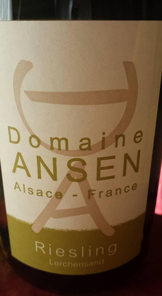 Domaine Ansen – Riesling Lerchensand 2013 – Alsace