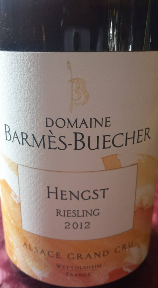 Domaine Barmès-Buecher – Hengst Riesling 2012 – Alsace Grand Cru