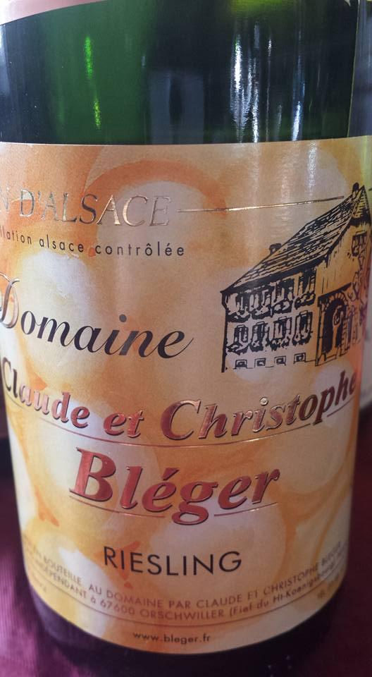 Domaine Claude et Christophe Bléger – Riesling – L'inoubliable 2012 – Alsace