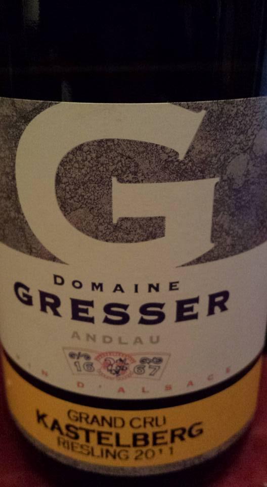 Domaine Gresser – Kastelberg – Riesling 2011 – Alsace Grand Cru