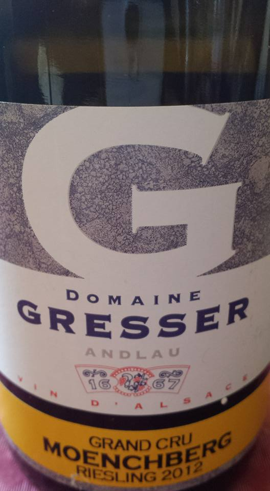 Domaine Rémy Gresser – Moenchberg Riesling 2012 – Alsace Grand Cru