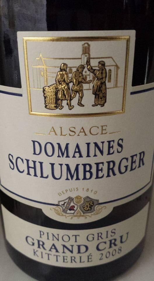 Domaine Schlumberger – Pinot Gris Kitterlé 2008 – Alsace Grand Cru