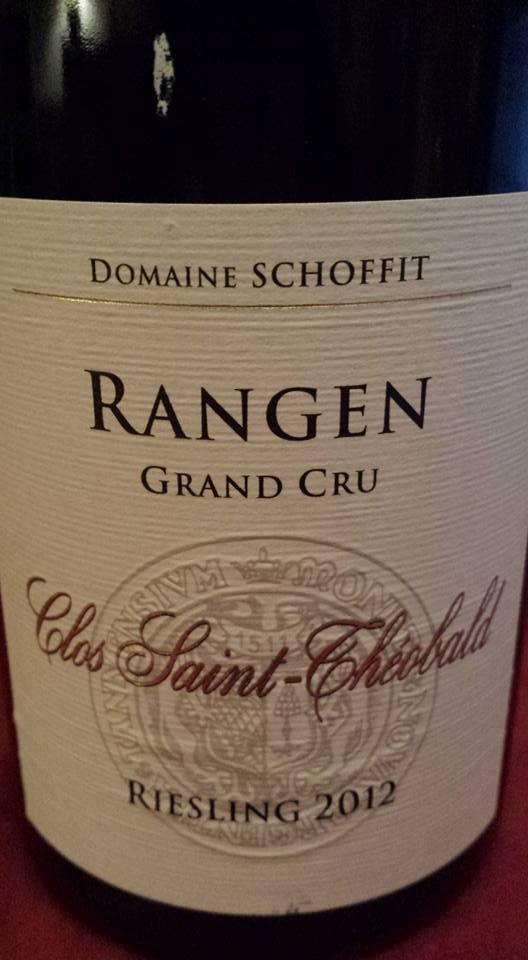 Domaine Schoffit – Clos Saint-Théobald – Rangen Riesling 2012 – Alsace Grand Cru