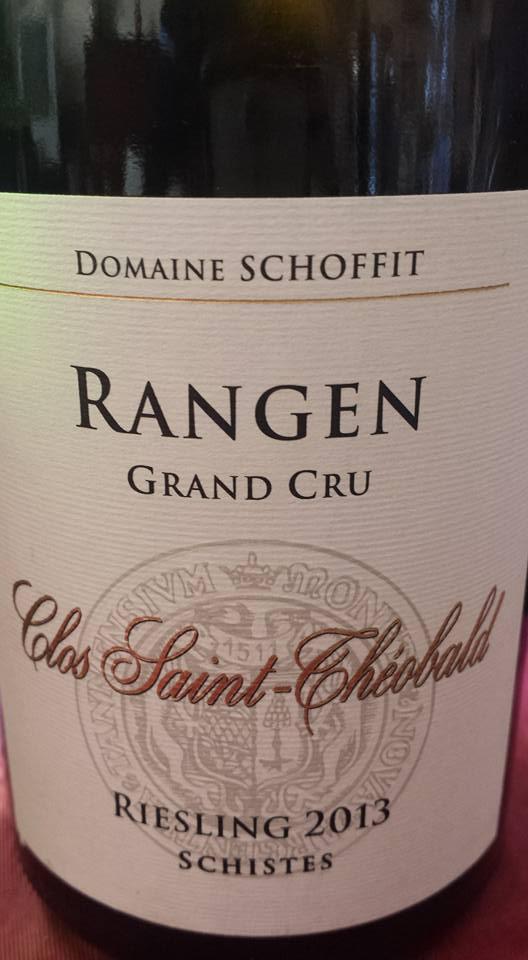 Domaine Schoffit – Clos Saint-Théobald – Riesling 2013 Schistes – Rangen Grand Cru – Alsace