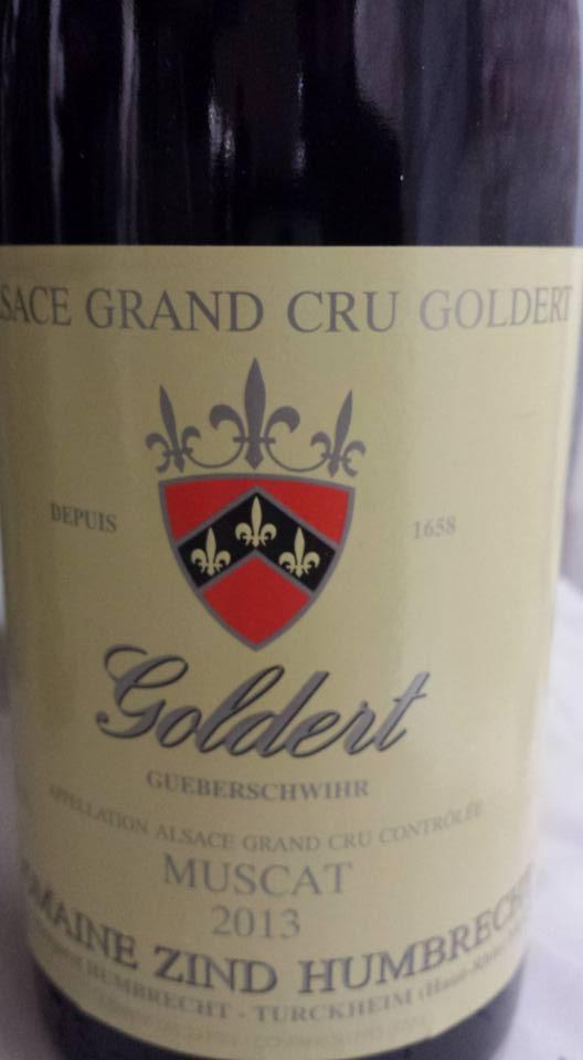 Domaine Zind Humbrecht – Muscat 2013 – Alsace Grand Cru Goldert