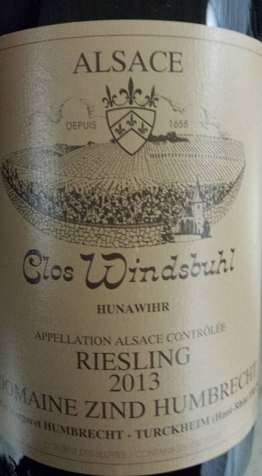 Domaine Zind Humbrecht – Riesling 2013 Clos Windsbuhl – Alsace