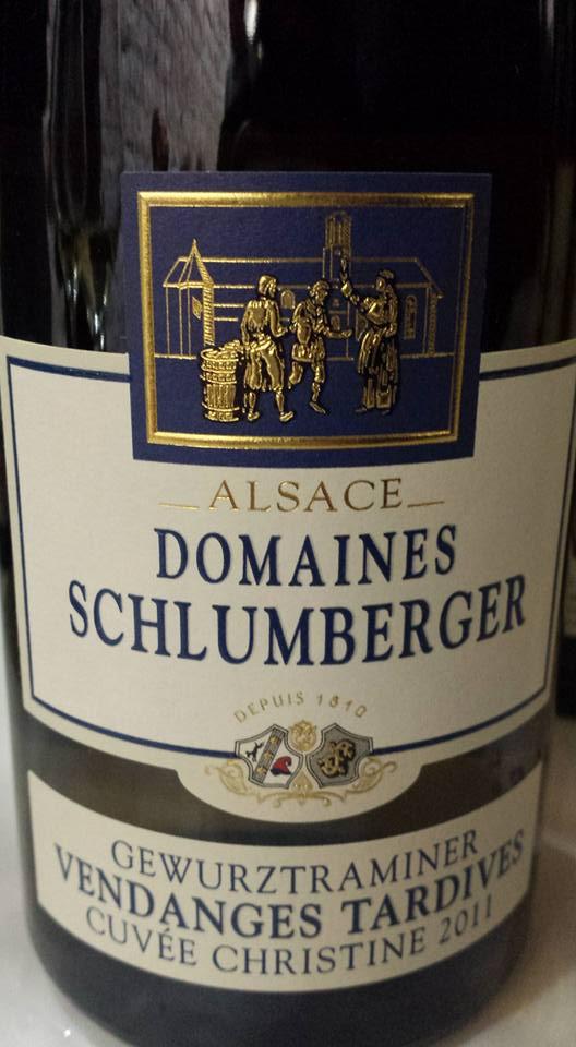 Domaines Schlumberger – Gewurztraminer Vendanges Tardives – Cuvée Christine 2011 – Alsace