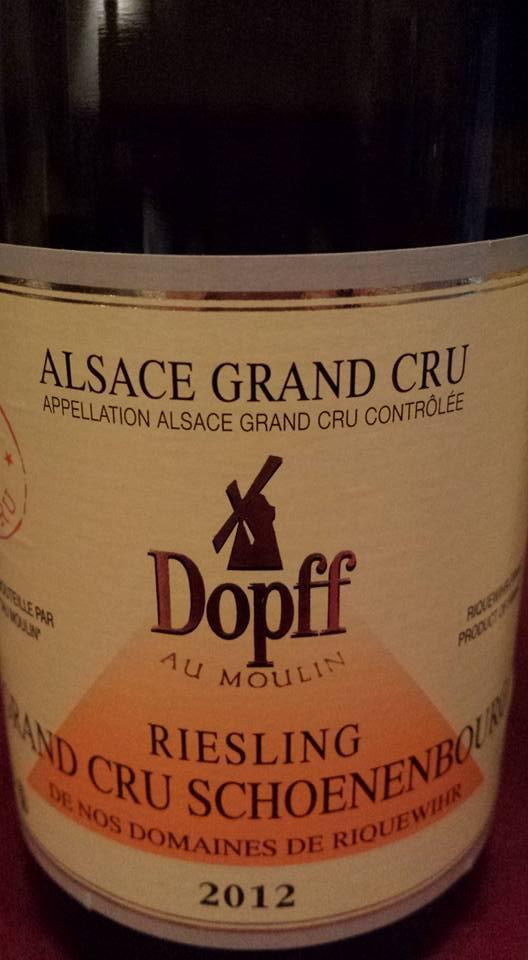 Dopff Au moulin – Riesling Grand Cru Schoenenbourg de Riquewihr 2012 – Alsace Grand Cru