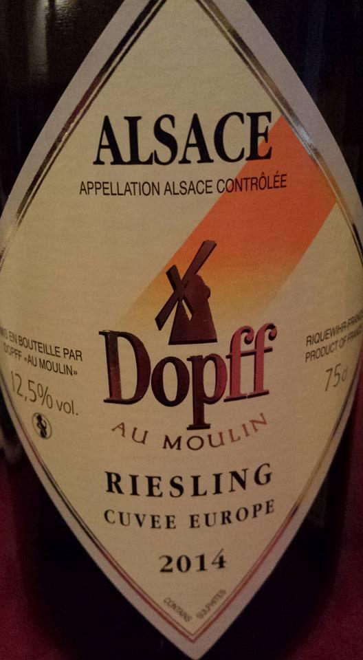 Dopff au moulin – Riesling Cuvée Europe 2014 – Alsace