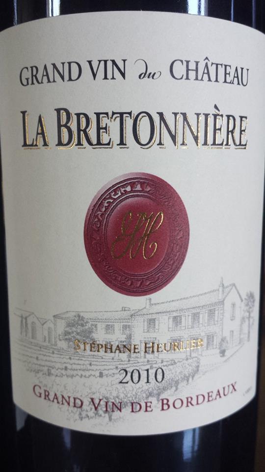 Grand Vin du Château la Bretonnière 2010 – Blaye Côtes de Bordeaux