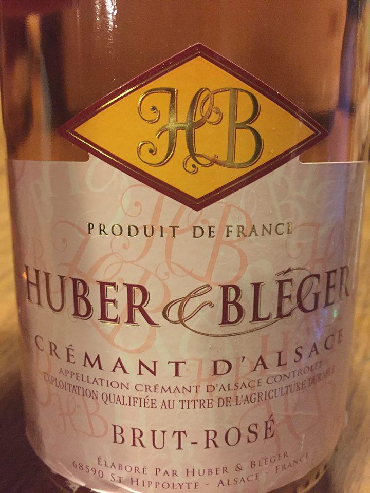 Huber & Bléger – Brut-Rosé – Crémant d'Alsace
