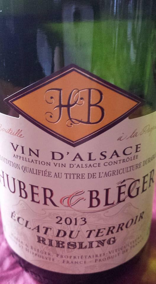 Huber & Bléger – Eclat du Terroir Riesling 2013 – Alsace