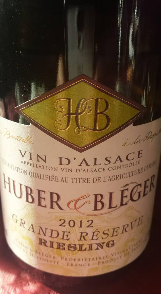 Huber & Bléger – Grande Réserve Riesling 2012 – Alsace