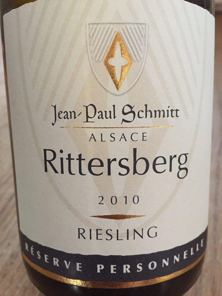 Jean-Paul Schmitt – Rittersberg Riesling 2010 Réserve Personnelle – Alsace