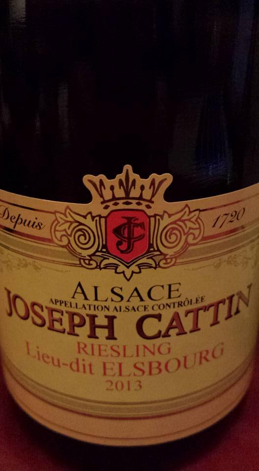Joseph Cattin – Riesling Lieu-dit Elsbourg 2013 – Alsace