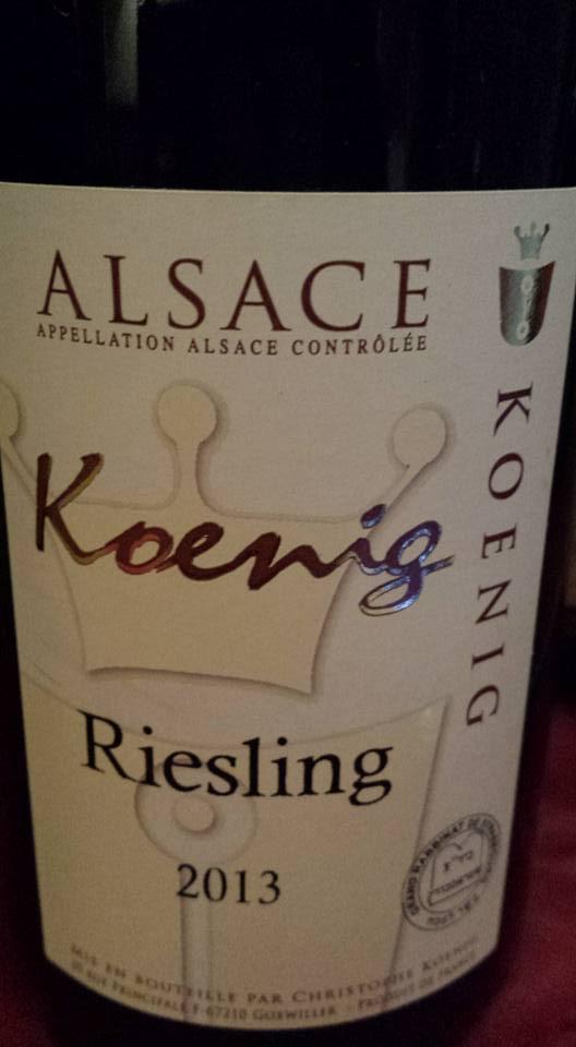 Koenig – Riesling 2013 – Alsace (Casher)