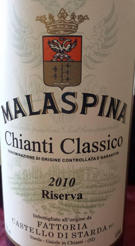 Malaspina 2010 – Fattoria Castello di Starda – Chianti Classico Riserva