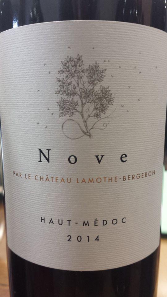 Nove par le Château Lamothe-Bergeron 2014 – Haut-Médoc