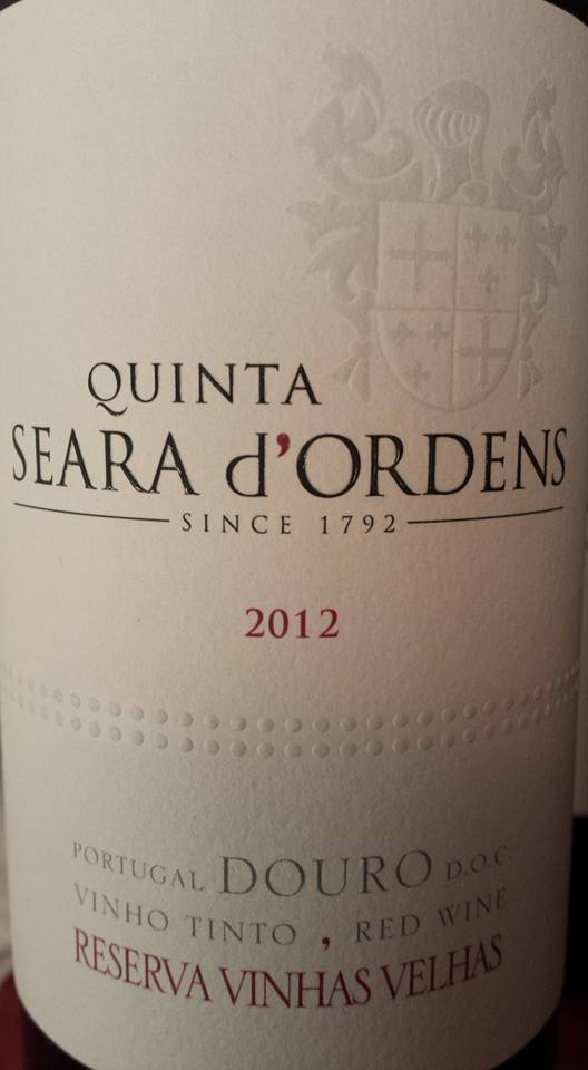 Quinta Seara D'Ordens – Reserva Vinha Velhas 2012 – Douro