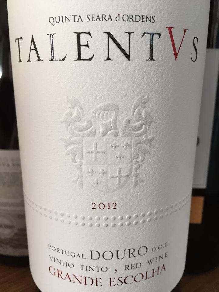 Quinta Seara d'Ordens – Talentus – Grande Escolha 2012 – Douro